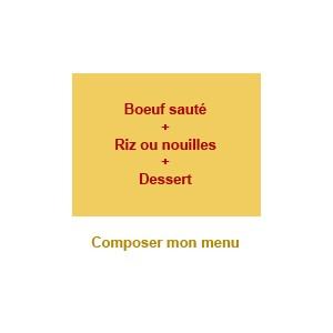 Menu boeuf + dessert