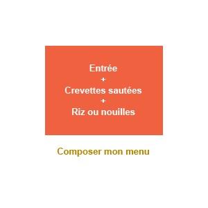 Menu entrée + crevettes